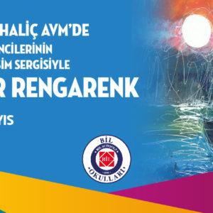 Biz Cevahir Haliç AVM'de Bil Koleji Öğrencilerinin hazırladığı resim sergisiyle her yer rengarenk!